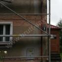 Wyfrezowane bruzdy pod montaż Saver Profili - wzmocnienie narożnika budynku.