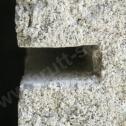 Prawidłowo wykonana bruzda pod montaż profili śrubowych ze stali nierdzewnej Brutt'a. Szerokość: około 12 - 16 mm, głębokość: minimum 4 cm bez grubości tynku.