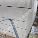 Naprawa pękniętego narożnika - perfekcyjnie przygotowane bruzdy pod montaż profili śrubowych ze stali nierdzewnej Brutt'a.