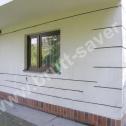"""Naprawa popękanych murów w domu jednorodzinnym wykonanym z materiałów """"lekkich"""". Zastosowano śrubowe Saver Profile fi6."""