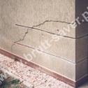 Naprawa odspojonego fragmentu muru z zastosowaniem Saver Profili firmy Brutt Saver. Minimalna długość końcówek profili za pęknięciem - 50 cm.